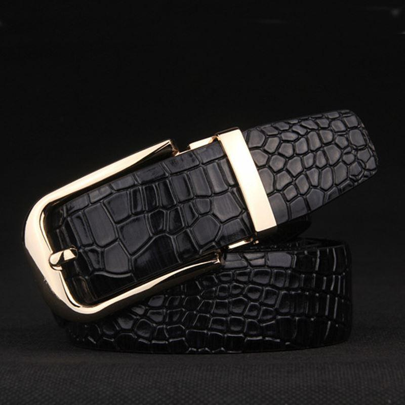be7c7d902f322 New Arrival Crocodile Grain Belts Men Cow Genuine Leather Pin Buckle ...