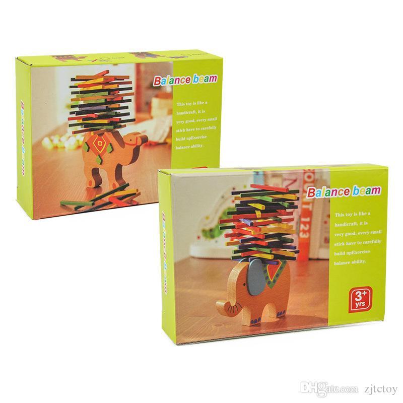 Wholesale Baby Toys Educational Elephant/Camel Balancing Blocks Wooden Toys Beech Wood Balance Game Montessori Blocks Gift For Children Kids