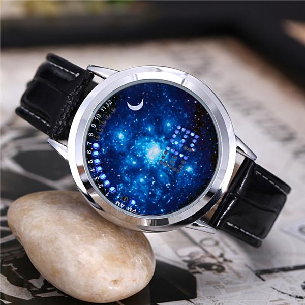 Tidal current LED star touch screen watch electronic couple of men and women students waterproof belt creative personality Watch