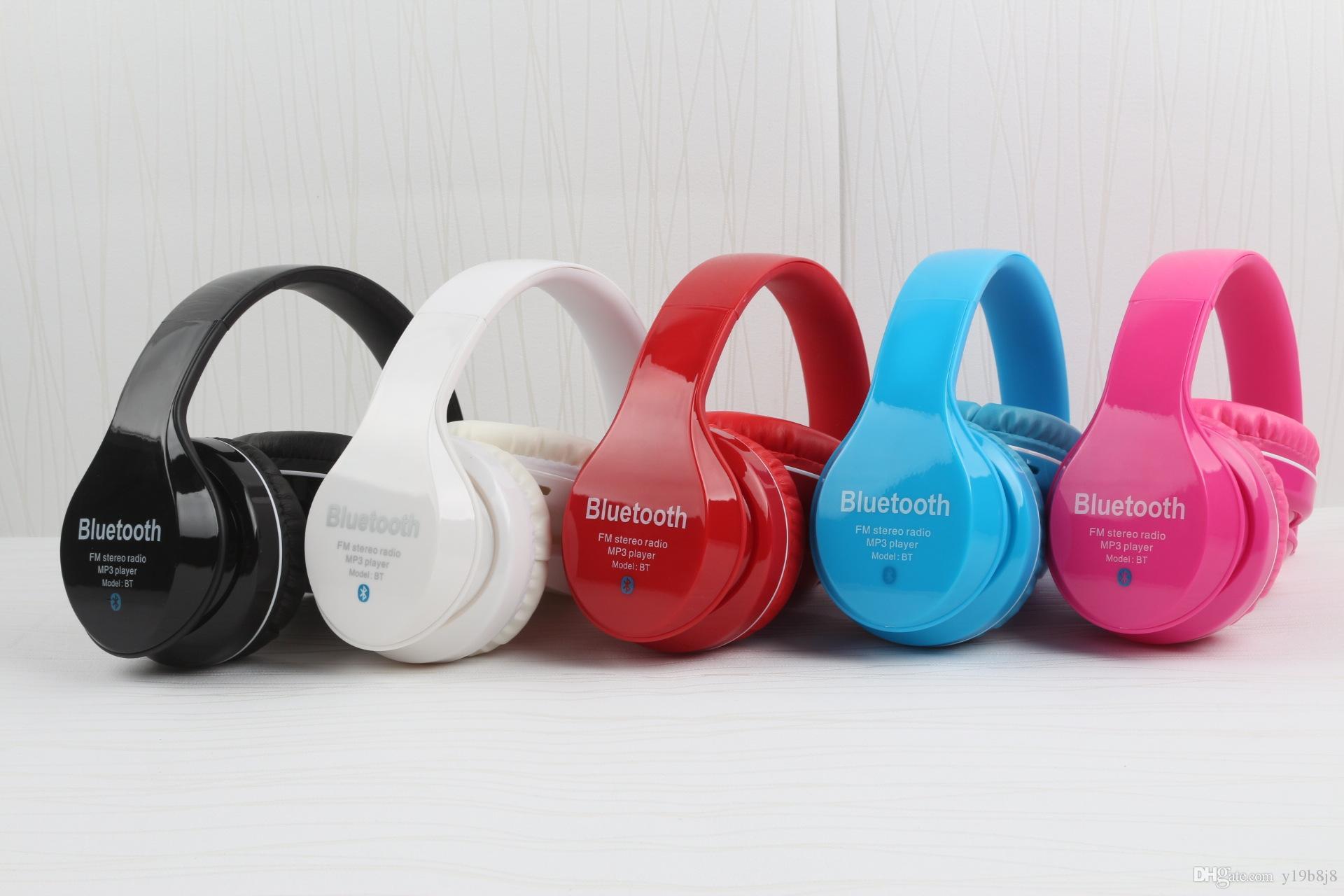 407d39f2f8b Compre Auriculares Inalámbricos Bluetooth Compatibles Con La Tarjeta FM /  TF Radio Juego Auriculares Bajos Con Cancelación De Ruido Con Micrófono Para  Pc ...