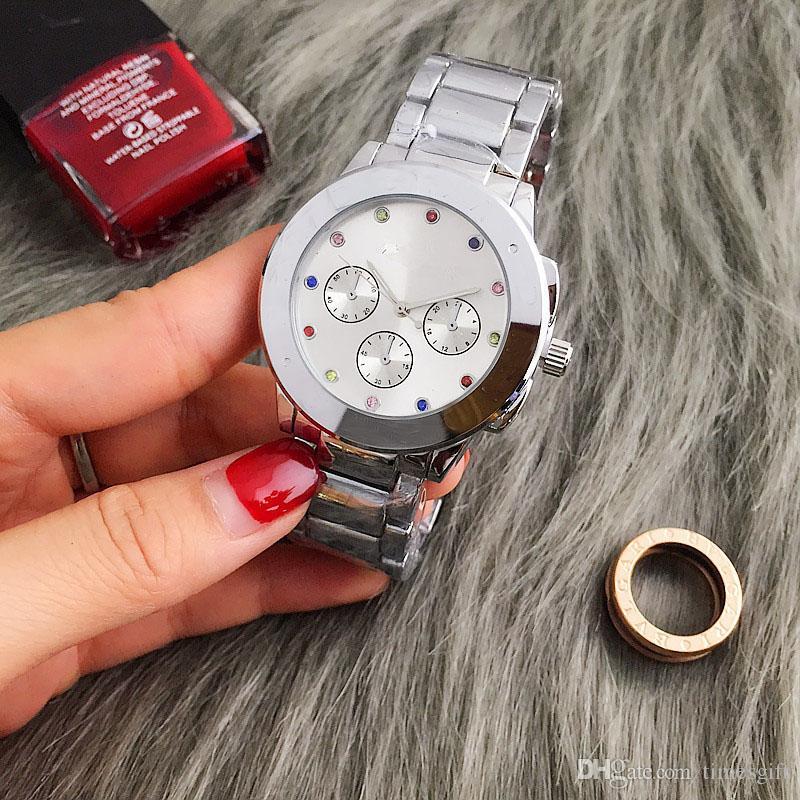 Nouveau Vogue 2019 Marque Montres Hommes Femmes Casual Designer Mode En Acier Inoxydable Or Rose Or Femmes Robe Montres Livraison gratuite