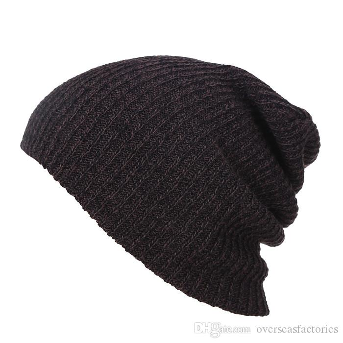 29e6b4676ce Knit Men S Baggy Beanie Oversize Winter Warm Hats Slouchy Chic Crochet  Knitted Cap For Women Girl S Hat Thick Female Cap Snapback Caps Baby Hats  From ...