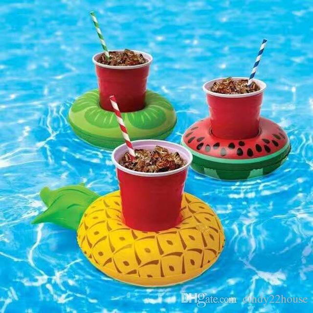 Drink Float Summer Inflatable Cup Holder Mini Cute Funny Kids Toys Red Flamingo Floating Inflatable Drink Holder Swimming Pool Bathing Beach
