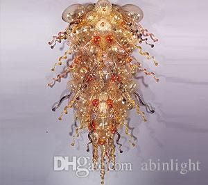LED Light Source Customized Glass Chandelier Art Deco Blown Murano Glass Chandelier Light Style Glass Chandelier for Sale