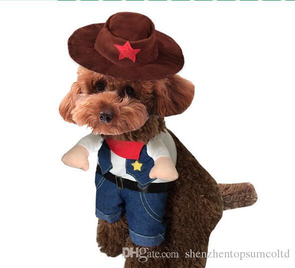 schattige huisdier hond kat halloween cool western koe kostuum doggy grappige party kleding puppy jassen honden katten uitloper
