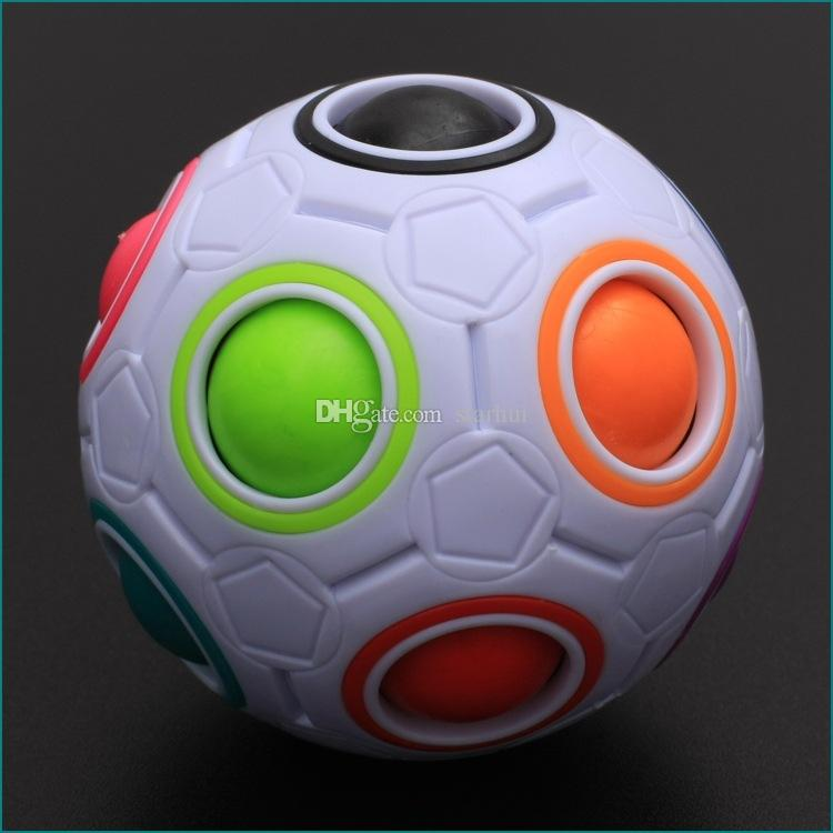Rainbow Ball Magic Cube Velocità Calcio Divertimento Creativo Puzzle sferici Bambini Giocattoli educativi di apprendimento Giochi Bambini Regali adulti WX-T75