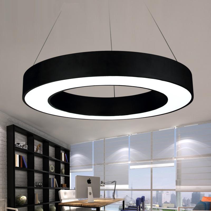 Acquista lampade a sospensione circolari a led circolari for Lampadari circolari