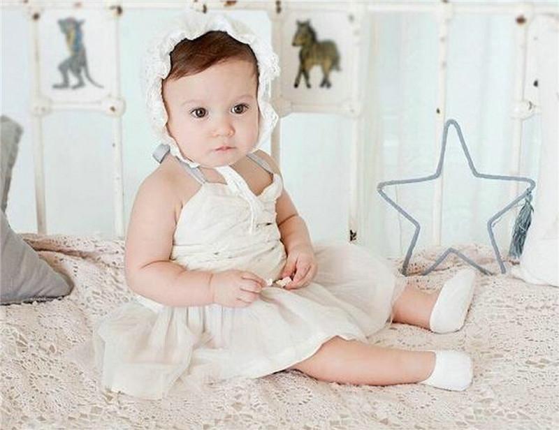 Baby Princess Hat Girls Fashion Bucket Hats New Cute Infant Baby Bonnet Cotton Bronzing SunHat Children Caps