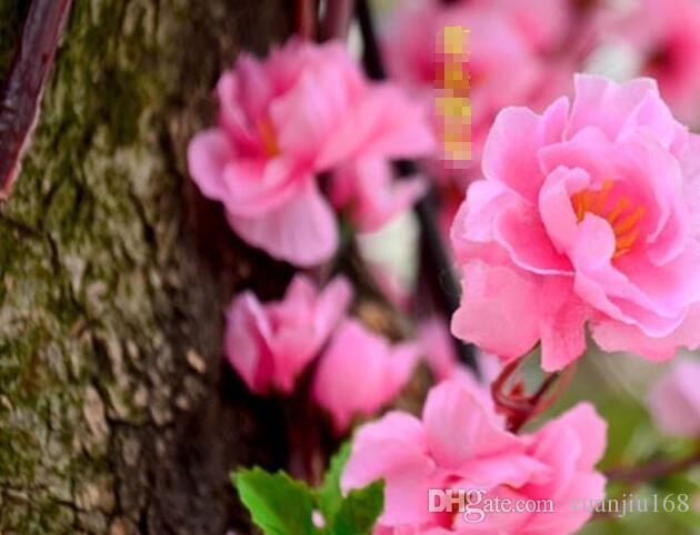 Природные Большие Искусственные Ткани Вишни Шелковые Цветы Свадебный Букет Цветы Партия Украшения Дома 5 Цвет