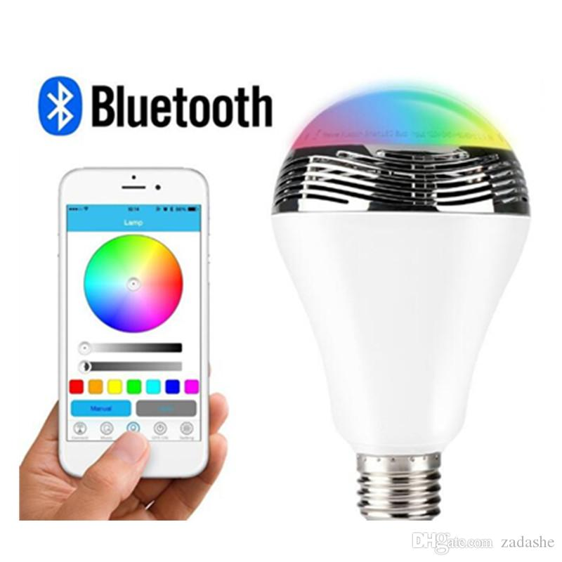 E27 Bluetooth Color Changing Led Light Bulb With Music Audio ...