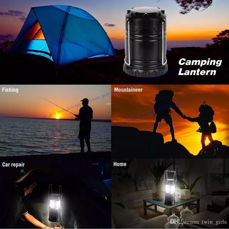 Portable extérieur 30 LED Camping Lantern d'urgence Camping Lantern Light led IP54 pour Randonnée pédestre Urgences Ouragans Outages Tempêtes