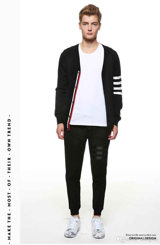 Großhandels-Neu-England Männer Pullover Institut Wind Franse Metrosexual Mode Strickjacke Pullover