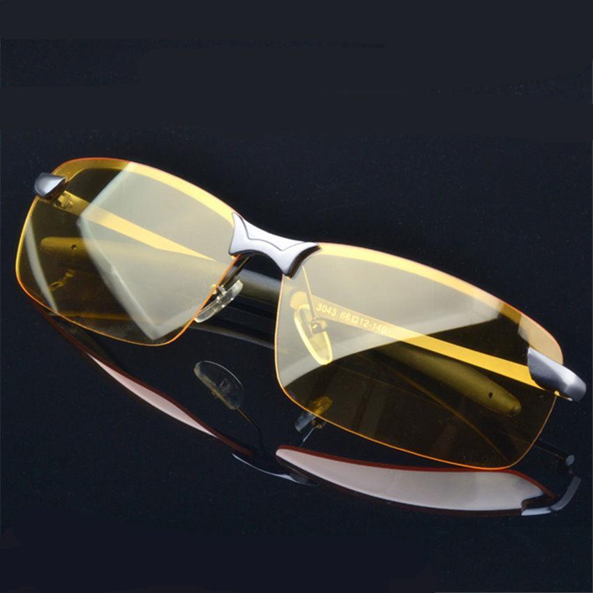 c4c9bbcb8d4f5 Compre Atacado Liga Uv400 Polarizada Dos Homens Noite De Visão Noturna  Óculos De Condução Óculos De Sol Condução Do Esporte Masculino Óculos De  Sol Para ...