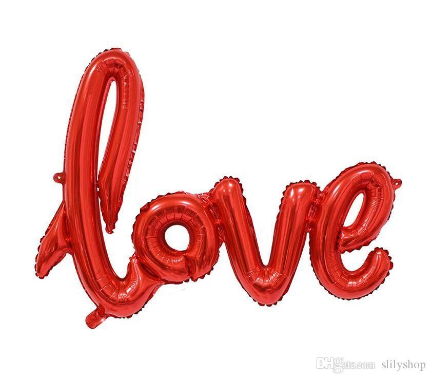 Ligatures Love Champagne Red Balloons Aluminium Foil Balloon Helium Ballons Birthday Wedding Valentine Party Decoration