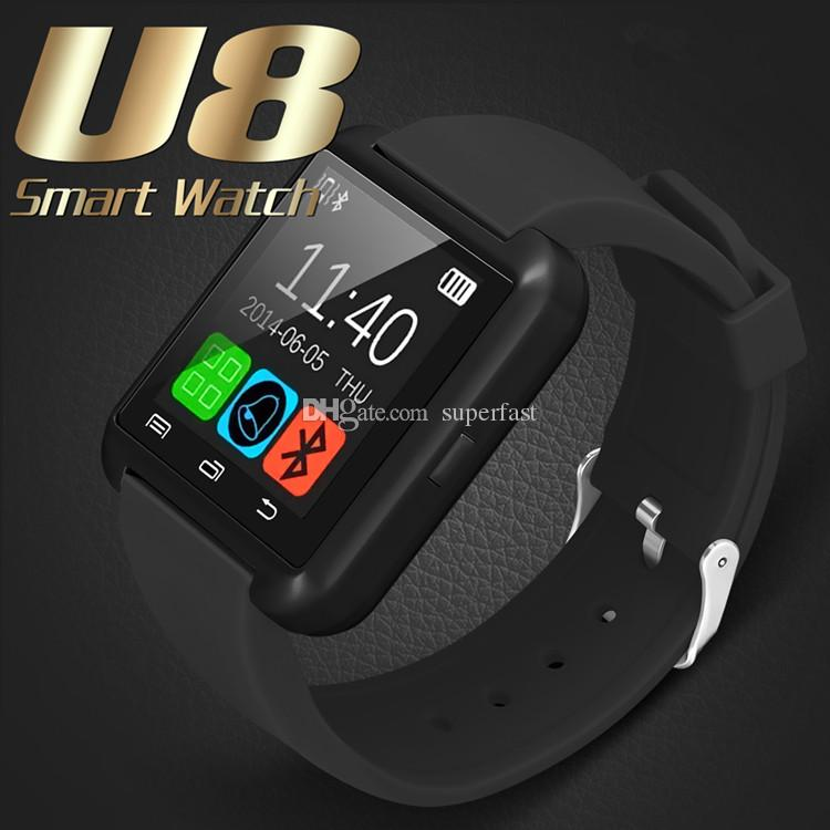 Bluetooth Smart Watch U8 Wireless Bluetooth Smartwatches Touch Screen Smart Wrist Watch With SIM Card Slot For Android IOS With Retail Box