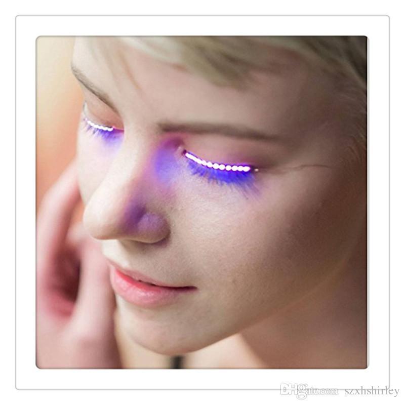 2017 Fashion LED Eyelashes Sandistore Eyelid False Eyelashes For Fashion Icon Saloon Pub Club Bar Party