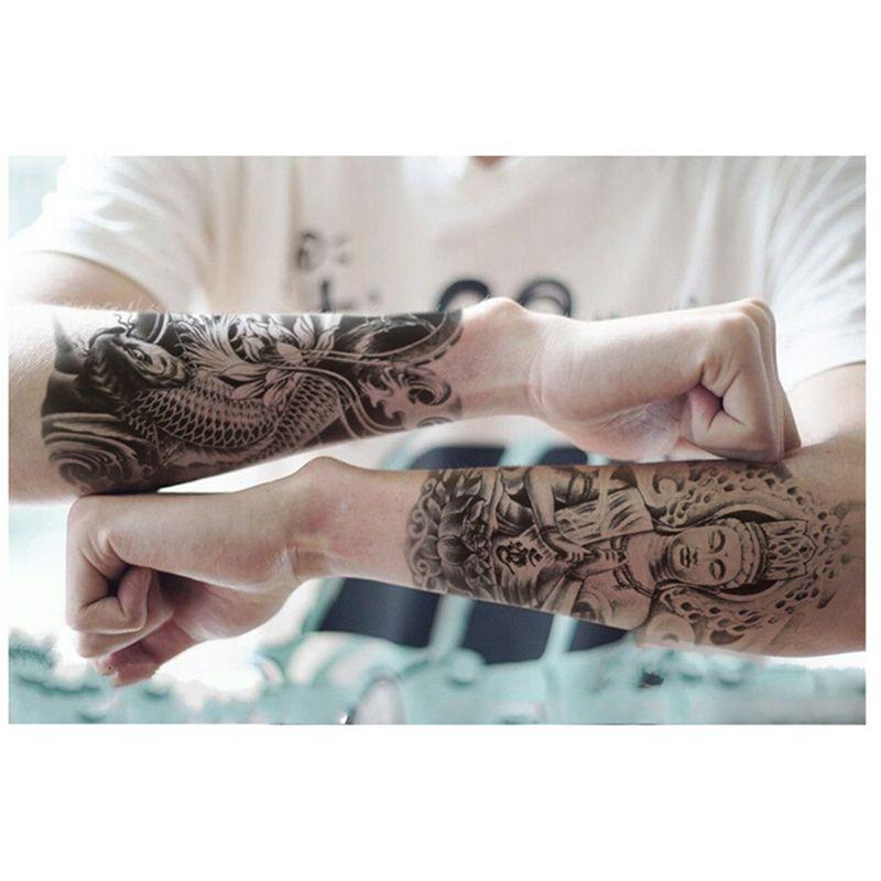 3d Buddha Tattoos Designs Stickers Body Art Arm Tattoo Sticker Boys