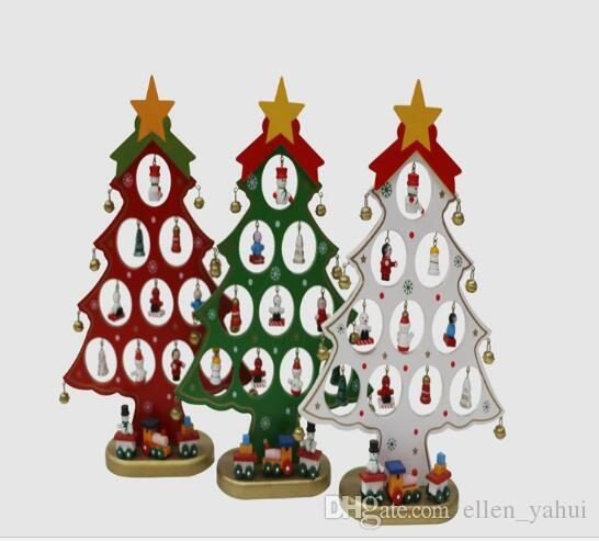wooden tabletop christmas tree decorations accessories diy handcrafted decorative accessories tree decoration christmas party supplies silver christmas