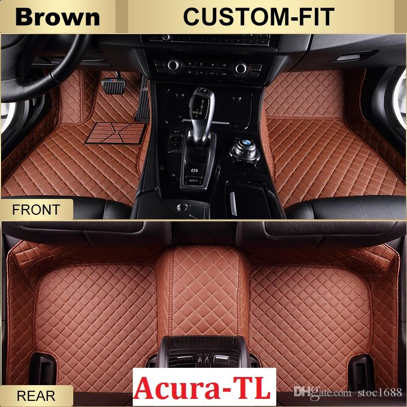 SCOT Custom Fit Leather Car Floor Mats For Acura TL All Weather - Acura tl floor mats