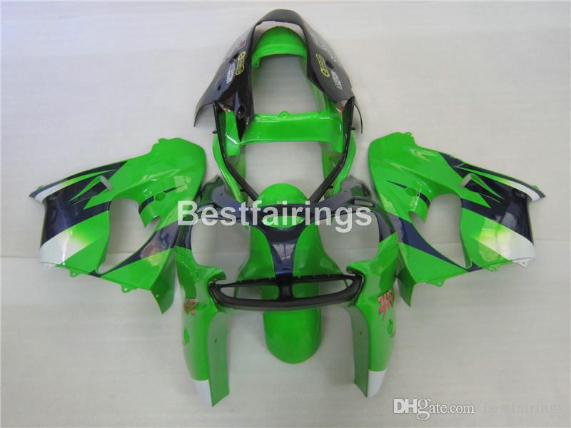Мотоцикл пластики обтекатель комплект для Kawasaki Ninja ZX9R 02 03 зеленый черных обтекателей набора ZX9R 2002 2003 IU05