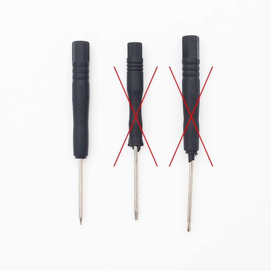 T2 T3 T4 T5 T6 Fem modeller Mini skruvmejslar valfritt, för iPhone mobiltelefon / parti