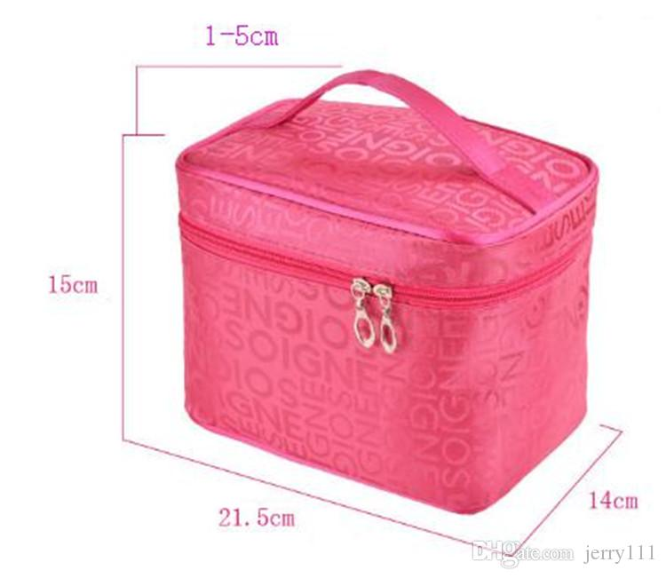 Wholesale professional Cosmetic Case bag large capacity portable Women Zipper Makeup cosmetic bags storage luggage travel bags TA190