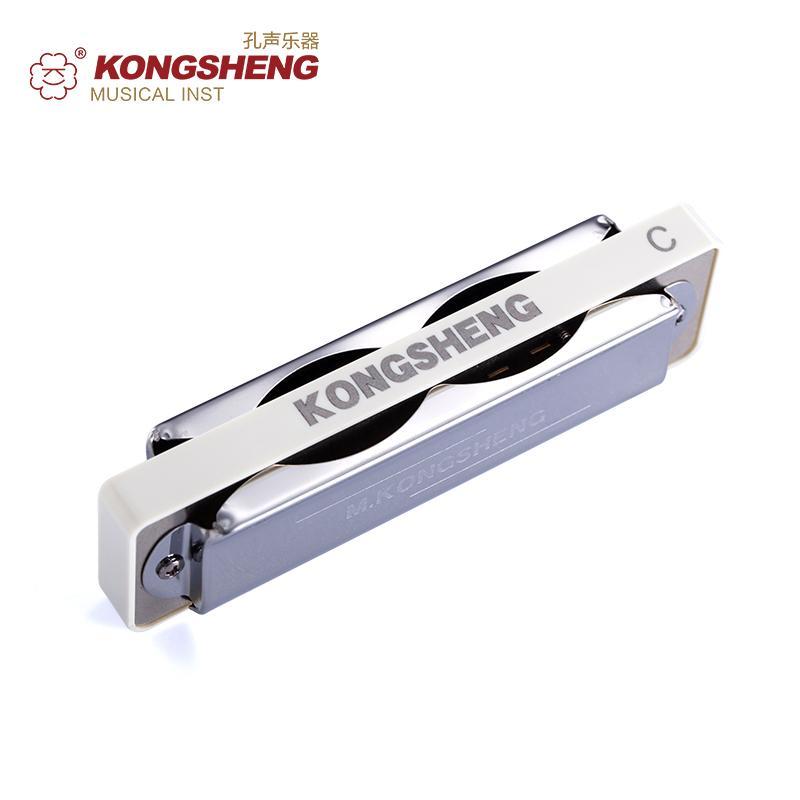KONGSHENG Amazing20 Deluxe AM20D диатоническая гармоника высокое качество 10 отверстий Блюз Арфа губная гармошка белый специально для начинающих