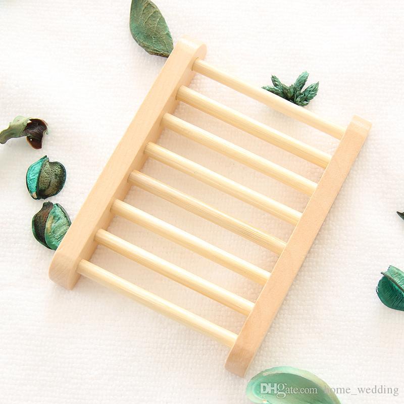 Natural Saboneteira De Madeira De Bambu Saboneteira de Madeira Titular Rack De Armazenamento De Sabão Caixa de Placa Recipiente para Banho de Chuveiro Do Banheiro