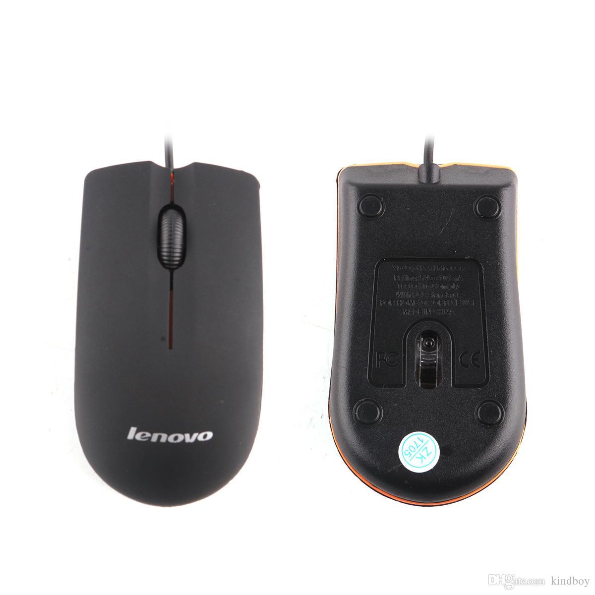 NOVA USB Mouse Óptico Mini 3D Com Fio Gaming Ratos Com Caixa de Varejo Para Computador Portátil Notebook Jogo Lenovo M20