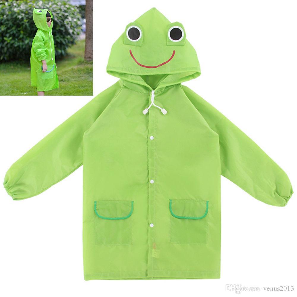 مضحك معطف المطر أطفال الأطفال معطف واق من المطر ملابس ضد المطر تناسب الأطفال المعطف الحيوان معطف واق من المطر