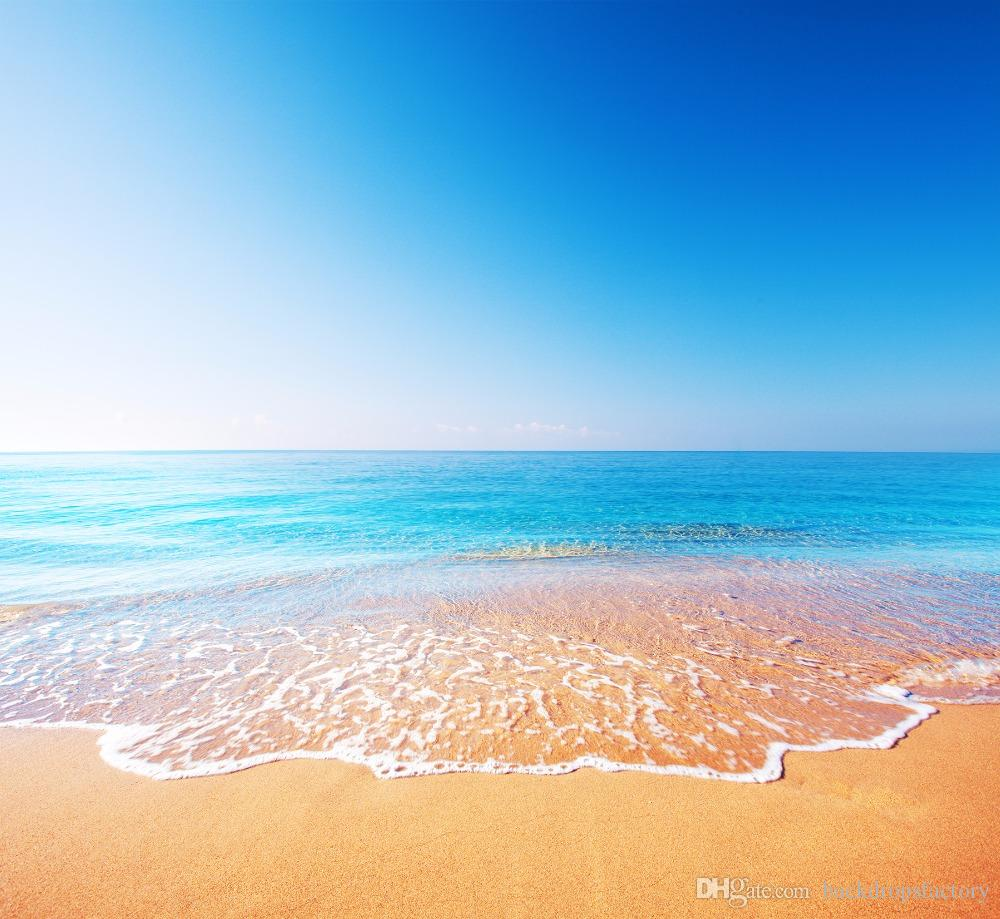 Sand Beach In Summer Sky Background: 2019 Blue Sky Seawater White Clouds Beach Photography