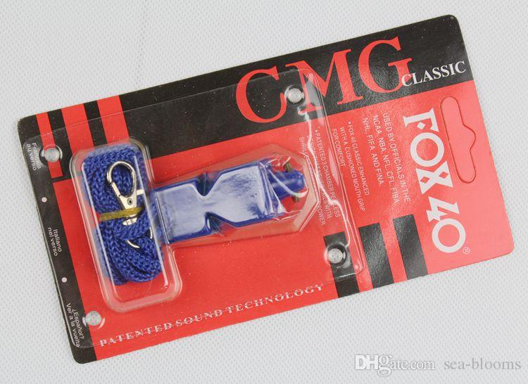 Fox 40 Classic Official Whistle With Break Away Lanyard FOX 40 Football Soccer Basketball Whistle Referee FOX 40 Whistle B240S