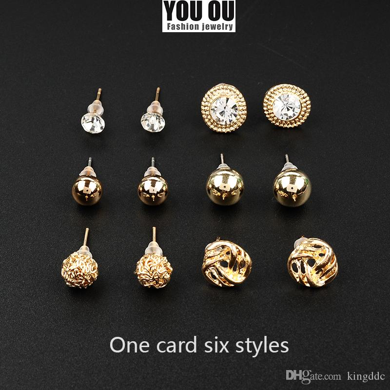 Band New Six sets of Wedding Stud Earring,One card six styles ...