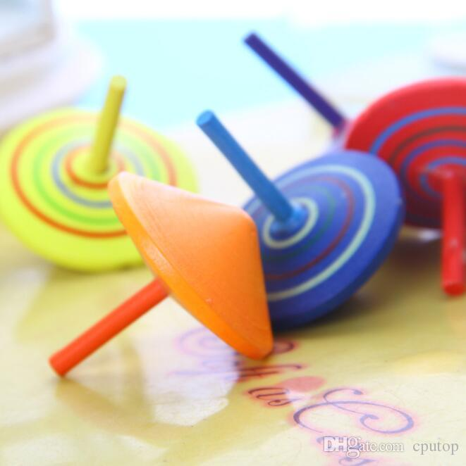Baby Toys Colorful Spinning Top Wooden Toys Children Gift Learning Educational Toys Wooden Classic Gyro Toy