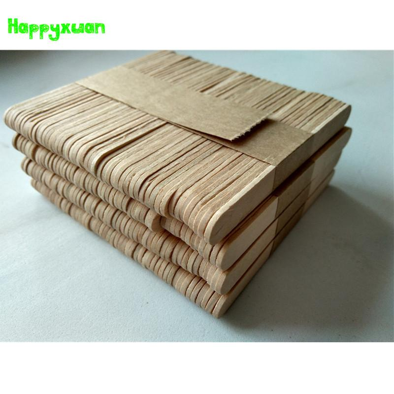 Happyxuan 93 10 2mm Nature Color Wood Icecream Stick Wooden Popsicle