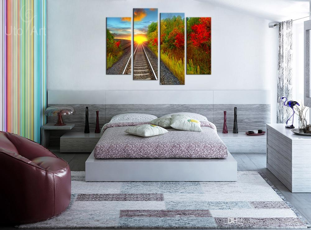 Wall Decor Painting Autumn Landscape Art Print Home Decorative Digital Picture Canvas Printing For Living Room