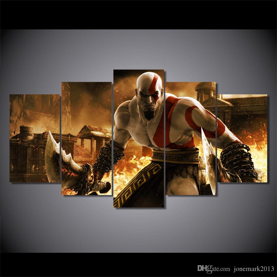 Framed HD Printed god of war ascension kratos Painting on canvas room decoration print poster picture canvas /ny-2376
