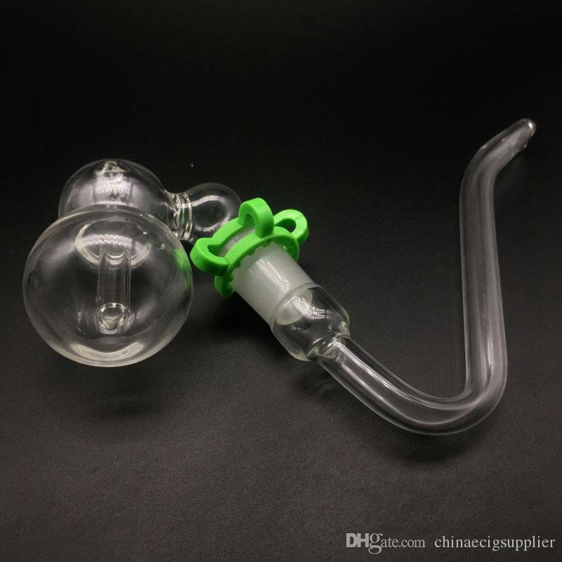 Auf Lager!! Glas Aschenfänger Bubbler mit J-Haken Adapter J Haken Glasrohre und Kunststoff-Falten Rohrständer Rack Halter Kits für das Rauchen