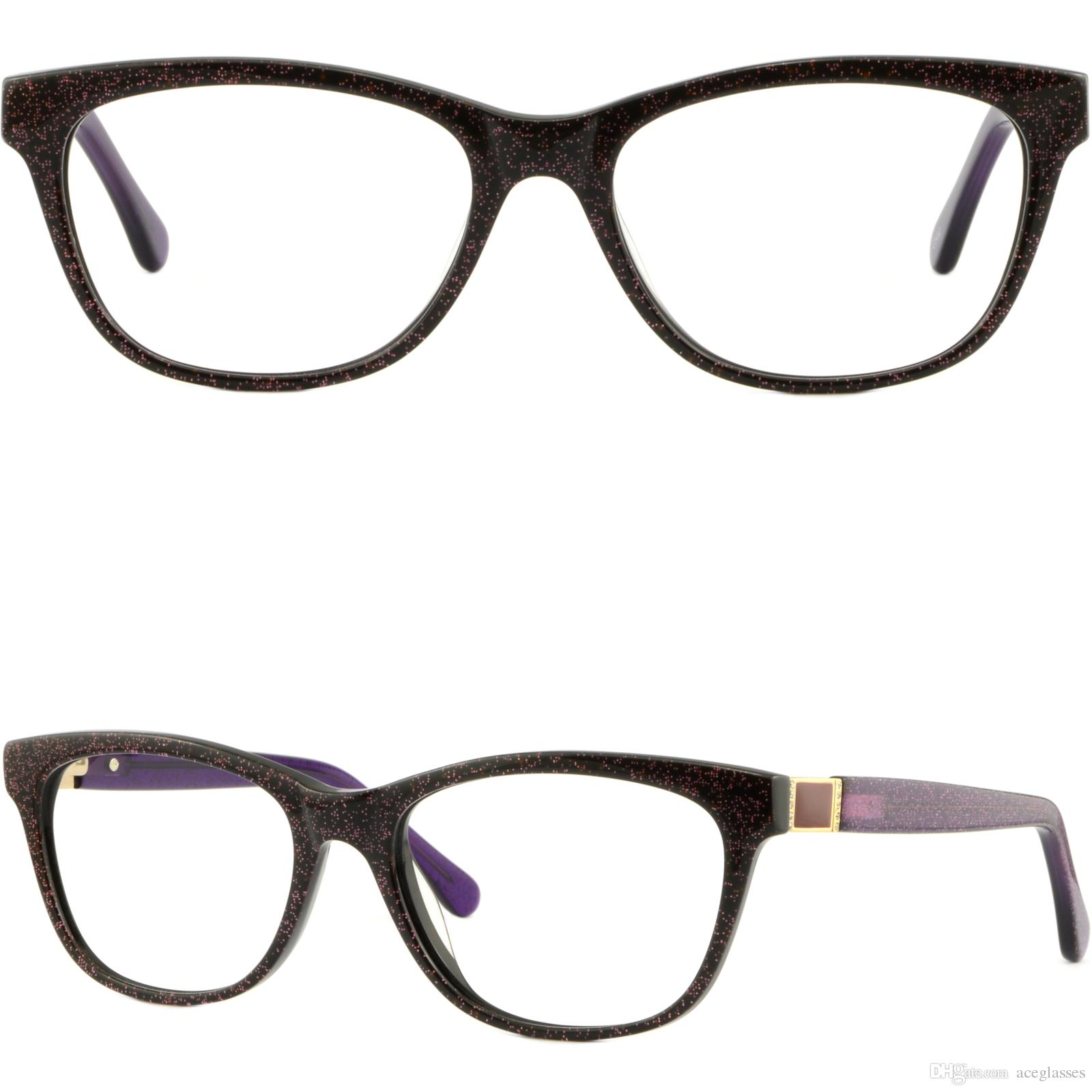 3778fce70e3 Light Womens Plastic Frames Round Thin Acetate Glasses Purple Bling Bling  Brillengestell Fassung Damenbrille Rund Glasses Frame Online with   31.08 Piece on ...