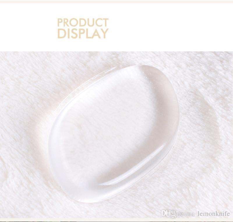 crema base de maquillaje herramientas de primera calidad Claro soplo de polvo transparente silicón de la cara Fundación esponja herramienta Blender silicona soplo de polvo BB