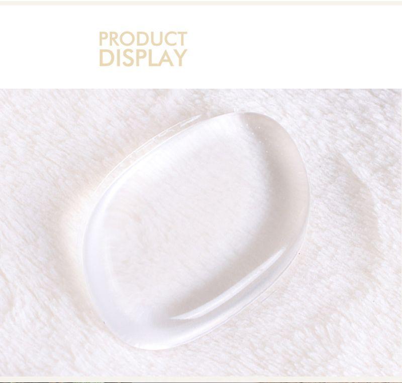 Silisponge Clear Powder Puff Silicona Transparente Face Foundation Tool Esponja Blender Silicona Powder Puff esponjas transparentes de silicona