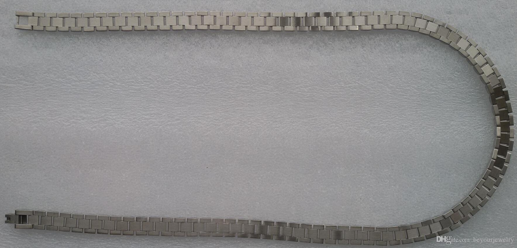 جديد سوبر نوبل الأزياء عالية الجودة للرجال 316L الفولاذ المقاوم للصدأ الفضة الأبيض باند رابط قلادة