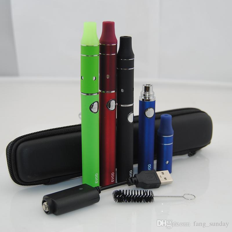 E Cigarette 900mah 1100mah Vaporizer eVod Mini Ago Dry Herb Herbal Atomizer Starter Kit wtih vapor mini carry case vapes