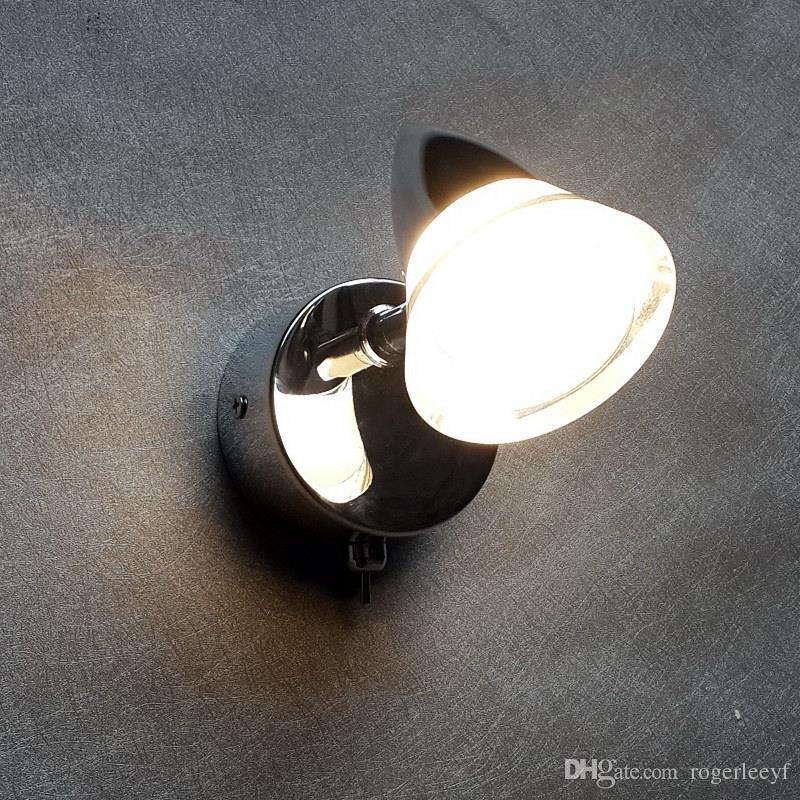 Topoch Döner Duvar Lambaları Al + PMMA Konut 3 W LED Krom Kaplama Başlık Geçidi / Koridor Ayna Ön Duvar Boyama Dolabı Aydınlatma