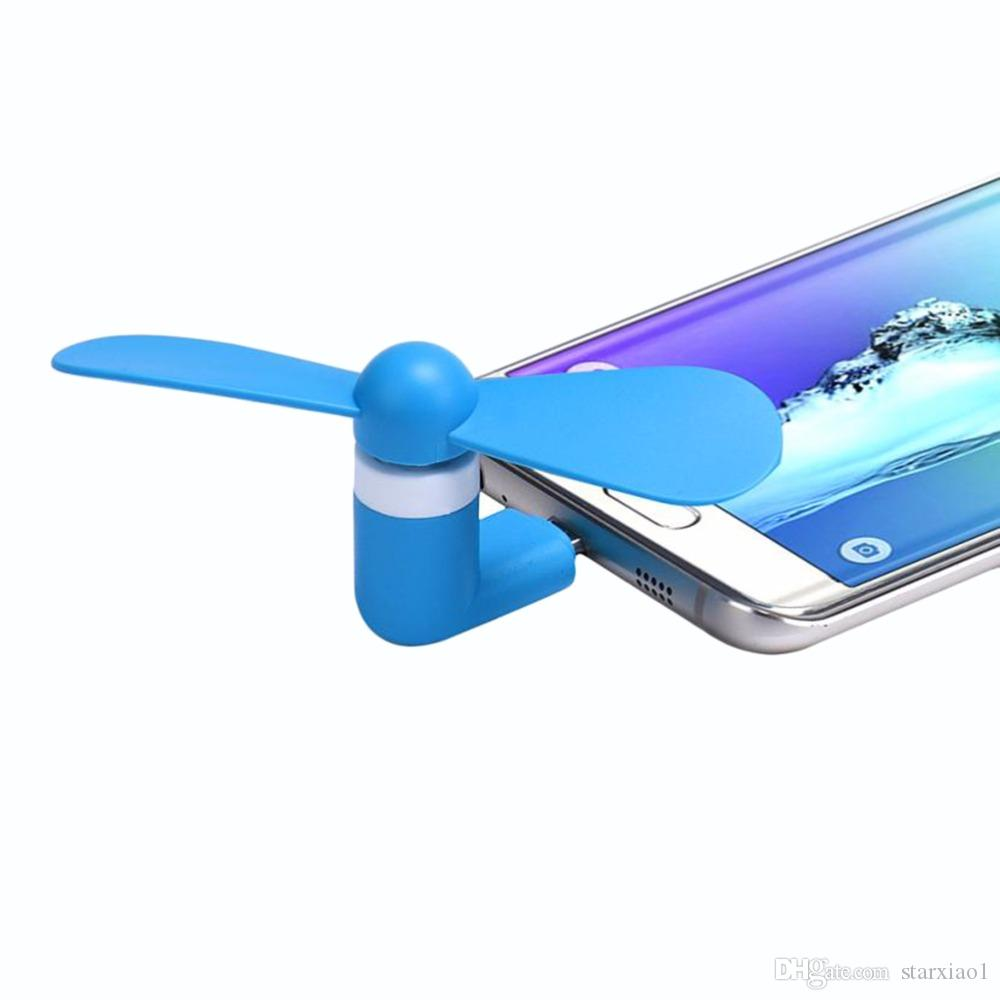 Portable 3 2 in 1 Mini Micro USB Fan Smartphone Cell Mobile Phone Fan Cool Cooler hand held For Android PC Type C Universal cellphone Fan