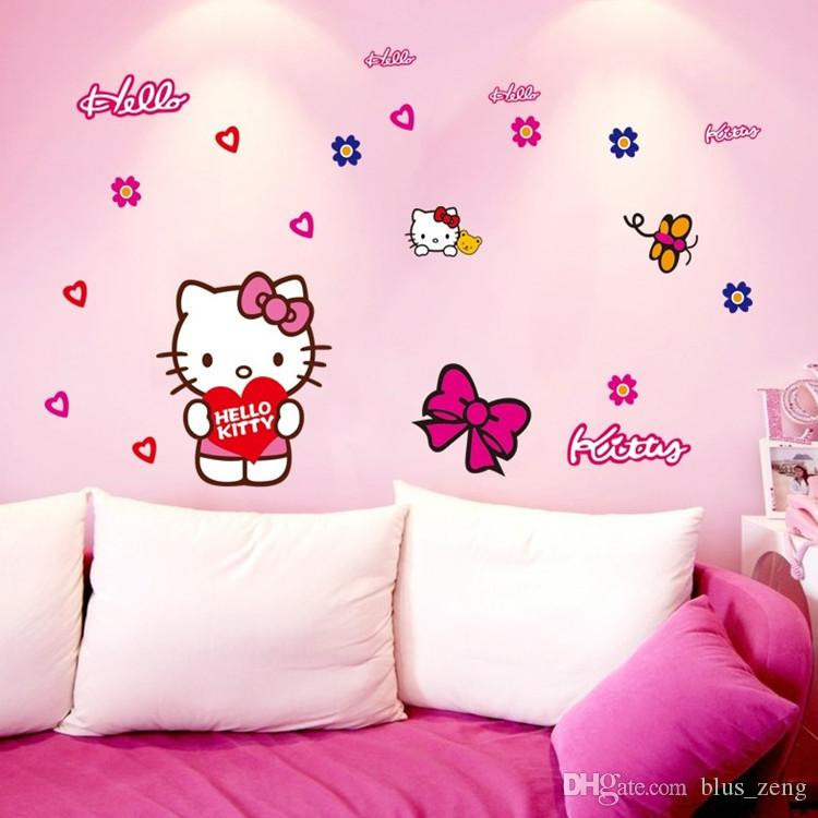 Exceptional 50*70cm Cartoon Hello Kitty Wall Stickers Diy Art Decal Removeable  Wallpaper Mural Sticker For Bedroom Living Room Car Sticker Ay7131 Modern Wall  Decal ... Part 31