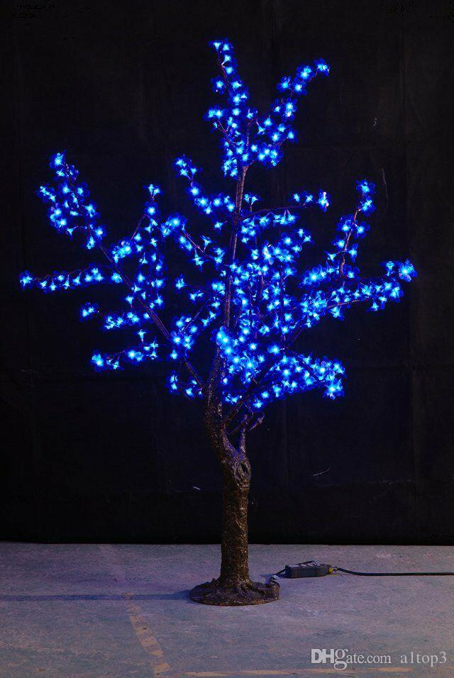 Delightful 2018 Free Ship 5ft 1.5m Height Blue Led Simulation Cherry Blossom Tree  Outdoor /Indoor Wedding Garden Holiday Christmas Light Decor 480 Leds From  A1top3, ...