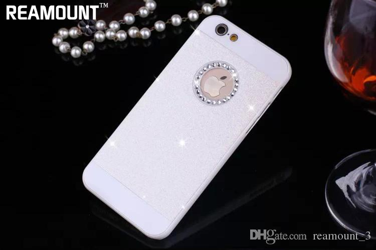 Bling glitter powder shining hard PC diamond case For iphone 4s 5s SE 6s 4.7 plus 5.5 crystal strass rhinestone coque bag fundas
