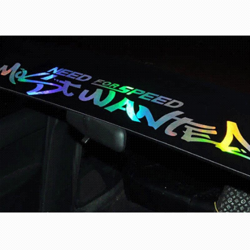 New laser reflective letters auto car front window windshield decal stickers for bmw audi peugeot car styling wholesale car sticker paper car brand