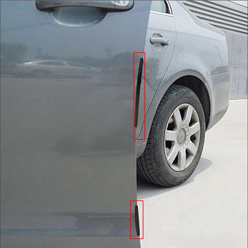 8 unids / set Borde de Lado Del Coche Tira Del Protector Borde SUV Auto Rascado Guardia Parachoques Mango Cubierta Protectora Etiqueta Para Ford VW Toyota BMW